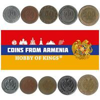 5 ARMENIAN COIN DIFFERENT OLD COLLECTIBLE CAUCASIAN COINS FOREIGN CURRENCY