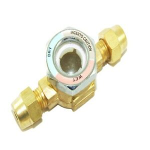 REFRIGERATION BRASS 1/4'' MALE TO 1/4'' FEMALE SIGHT GLASS - FLARE - RF155