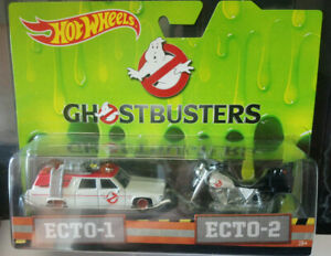 Hot Wheels Ghostbusters Pack Ecto1 Ecto 2 (cart)