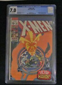 XMen Graded #58 07/69 CGC 7.0 1st Havok in Costume Neal Adams Cover and Art