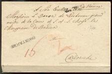 ÖSTERREICH 1744 VORPHILABRIEF an den MARKRAF in BADEN(E7491b