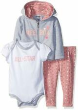 Reebok Baby Girls 3 Piece Fierce Little One Creepers and Legging Set 3-6m
