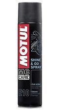 spray pulisci e ravviva plastiche Motul E10 400 ml al silicone lucida carene