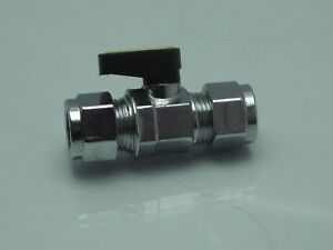 Mini Gas Compression Ball Valves, European Made 12mm & 15mm Oil, Water & Air Etc