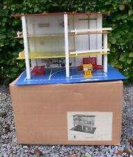 Vintage SHELL AUTO GARAGE pour Voiture 1/43 en bois MIB 1970's DDR East Germany
