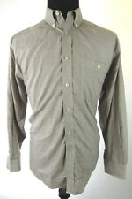Orvis Mens Large Brown Plaid Check Button Down Shirt
