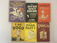 Pogo Comic Books by Walt Kelly Vintage I Go Pogo Sunday Book Incompleat Lot of 6