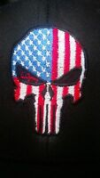 USA flag Punisher Flex Fit Ball Cap hat New