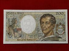 Billet 200 Fr Montesquieu 1982 Fay 70/2 Alph X.009 TTB+ / VF+ !!