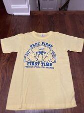 Mens 80's Feet First First Time Spinal Injury Tee shirt size medium