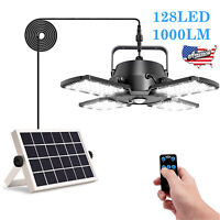 Solar Power Pendant Lights Garage Shop Lamp Indoor Outdoor Shed Barn Gazebo Yard