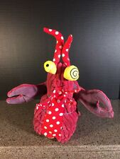 "Original Les Deglingos Plush Lobster 9"" Collectible Stuffed Animal Sea Life"