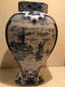 Delfter Porzellan Vase