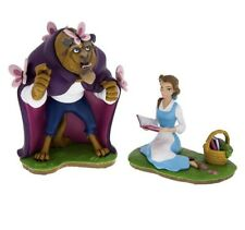 Disney Parks Beauty and the Beast Medium Resin Figure Statue Belle & Beast Set