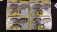 4 packs brand new Storm wildeye live sunfish soft plastic fishing lures,8cm
