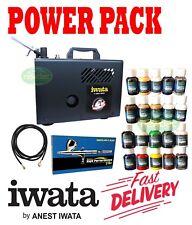 NEW IWATA IS925 PACK POWER JET LITE COMPRESSOR POWER SPRAY ART PRESSURE PSI DUTY