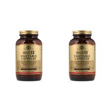 2X SOLGAR MULTI II VEGETABLE CAPSULES MULTIVITAMIN CHELATED MINERAL BODY HEALTH