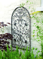 Spanish Wall Art Vintage Decor Scrolled Metal Arch Patio Fence Porch Yard Indoor