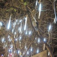 30cm 144 LED Lights 8 Tubes Meteor Shower Rain Snowfall Tree Garden Outdoor AL04