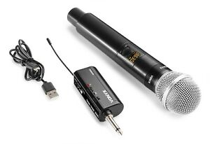"VONYX ""WM55"" UHF Funkmikrofon Set 10 Kanäle Akku Empfänger Funk Mikrofon Karaoke"