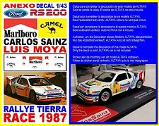 ANEXO DECAL 1/43 FORD RS 200 CARLOS SAINZ RALLYE RACE 1987 (01)