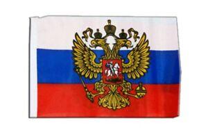 Russland mit Wappen Banner russische Fahnen Flaggen 30x45cm