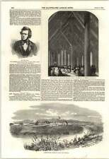 1853 el señor John Ellis industrial Ragged profesor de la escuela nativo Iglesia Otaki NZ