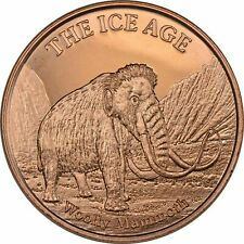 1 oz Copper Round - Woolly Mammoth