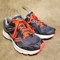 Saucony Womens Grid Cohesion 11 S10421-2 Sz 9 W Gray Blue Athletic Running Shoes