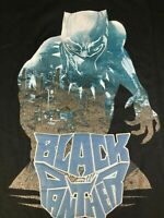 Black Small Panther Boys Shirt Wakanda Glow In The Dark Marvel Size 6 7