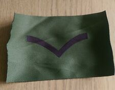 British Army Lance Corpoal Woven Flash Olive Green WW2 Ulster Northern Ireland
