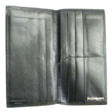YSL Yves Saint Laurent Black Bifold Long Wallet 12MISA1317 * RETAIL $875