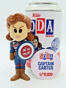 Funko Soda Captain Carter Common Open Can Free Shipping LE 8000