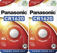2 x Panasonic® CR1620 3V Lithium Coin Cell Button Battery DL/CR 1620 Expiry 2029