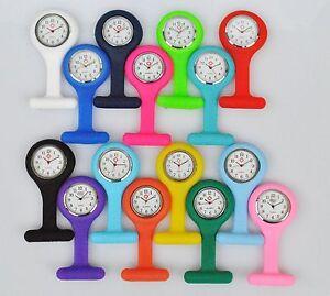 Silikon Schwesternuhr Krankenschwesteruhr Pulsuhr Kitteluhr Uhr mit Nadel NEU