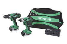 Hitachi 18V Lithium Ion CORDLESS DRILL + IMPACT DRIVER Combo KIT, KC18DGL