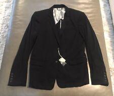NWT Diesel Giulya Slim Fit Mens Poly-Silk Lightweight Black Blazer 50 40R $398