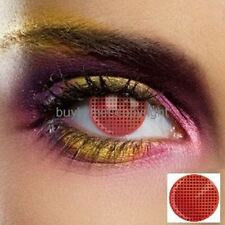 80541 lentille de couleur rouge grille lens red colored contact us halloween new