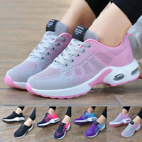 Women's Mesh Sneakers Athletic Running Shoes Sport Casual Shoes Black Pink US 11