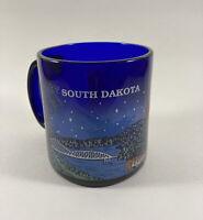 City of South Dakota Coffee Mug, Blue Glass, South Dakota Souvenir Mug