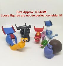 LOT of 6 Snail PVC Figures 2013 Movie TURBO Whiplash Collection Toys Kids Gift