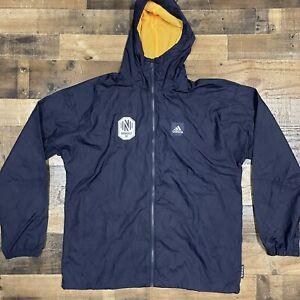Adidas Mens Primeblue Nashville SC Hooded Navy Windbreaker Jacket L Large $135