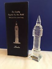 London Big Ben Crystal Glass with changing lights British England Souvenir Gift