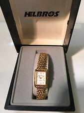 Vintage Helbros Ladies Gold  Tone Quartz Watch New Old Stock (H24291)