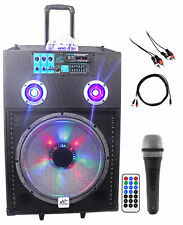 "NYC Acoustics Active 15"" Karaoke Machine/System 4 ipad/iphone/Android/Laptop/TV"