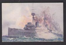 Navy British Battleship HMS BELLEROPHON Gun Trials PPC