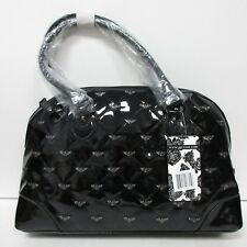 GG ROSE Rock Rebel Black Quilted Handbag with Bats Purse