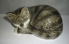 Schlafende Goebel Katze - grau