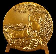 Médaille 65mm allégorie de l'agriculture et l'élevage allegory livestock medal