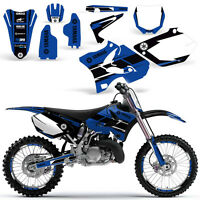 Yamaha YZ125 YZ250 Graphic Kit Dirt bike YZ 125 250 Deco 2002-2014 HURRICANE BLU